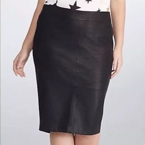 Faux leather Rebel Wilson pencil skirt Torrid 3